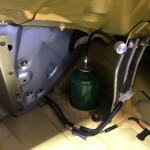 リアのアッパー部分はパネルで覆ってしまうので、減衰調整出来る様にオプションにはなりますがアジャスターを装着しました。