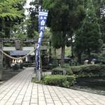 こちらは白川水源です。神社があり、おみくじを引いてみました(大吉だった~^_^)